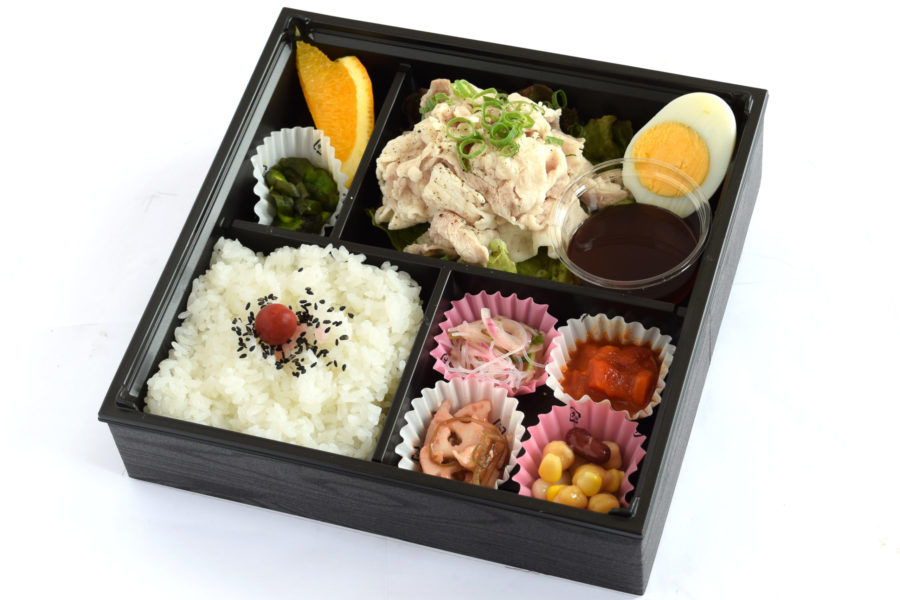 冷やし豚しゃぶ弁当1200円(税抜)